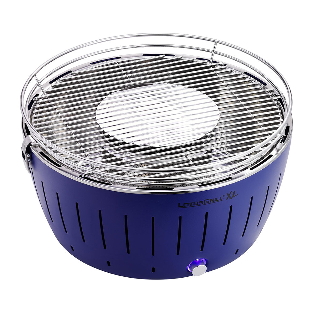 Lotus Grill - Portable Charcoal Grill - XL - Blue