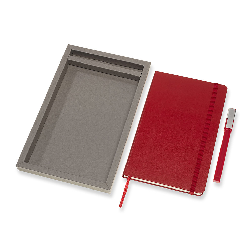 Moleskine - Ensemble carnet et stylo Bundle - Rouge