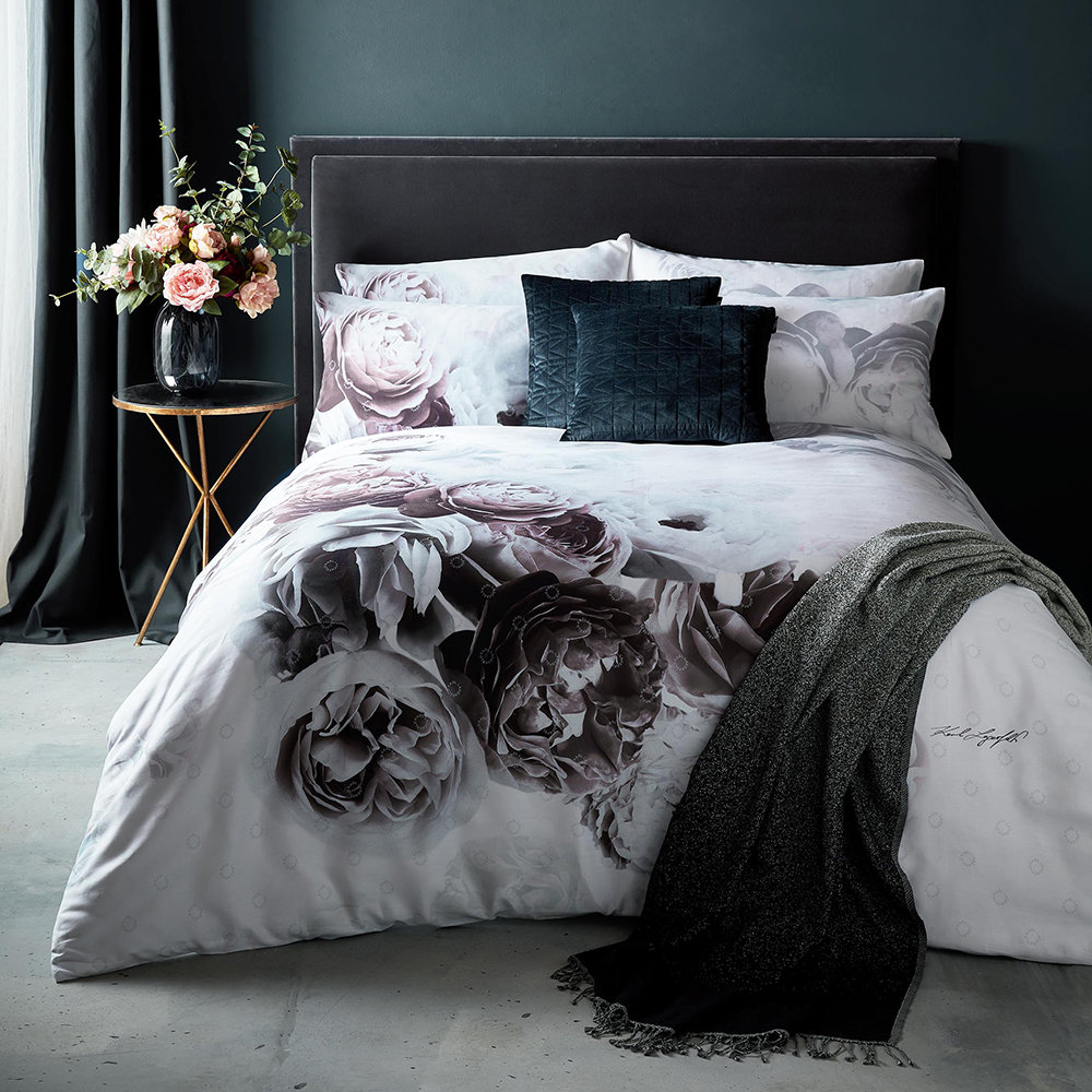 Karl Lagerfeld - Aria Duvet Cover - Grey - Super King