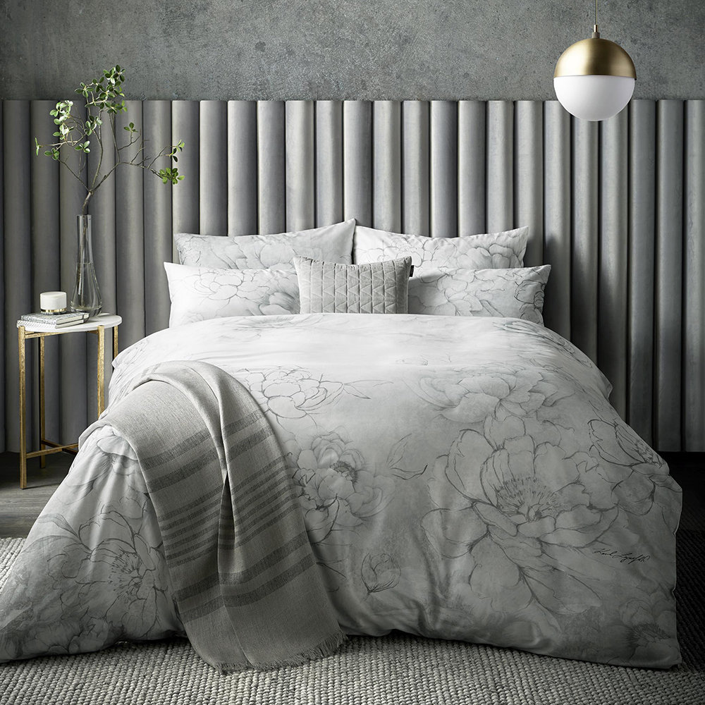 Karl Lagerfeld - Kallie Duvet Cover - Grey - Double