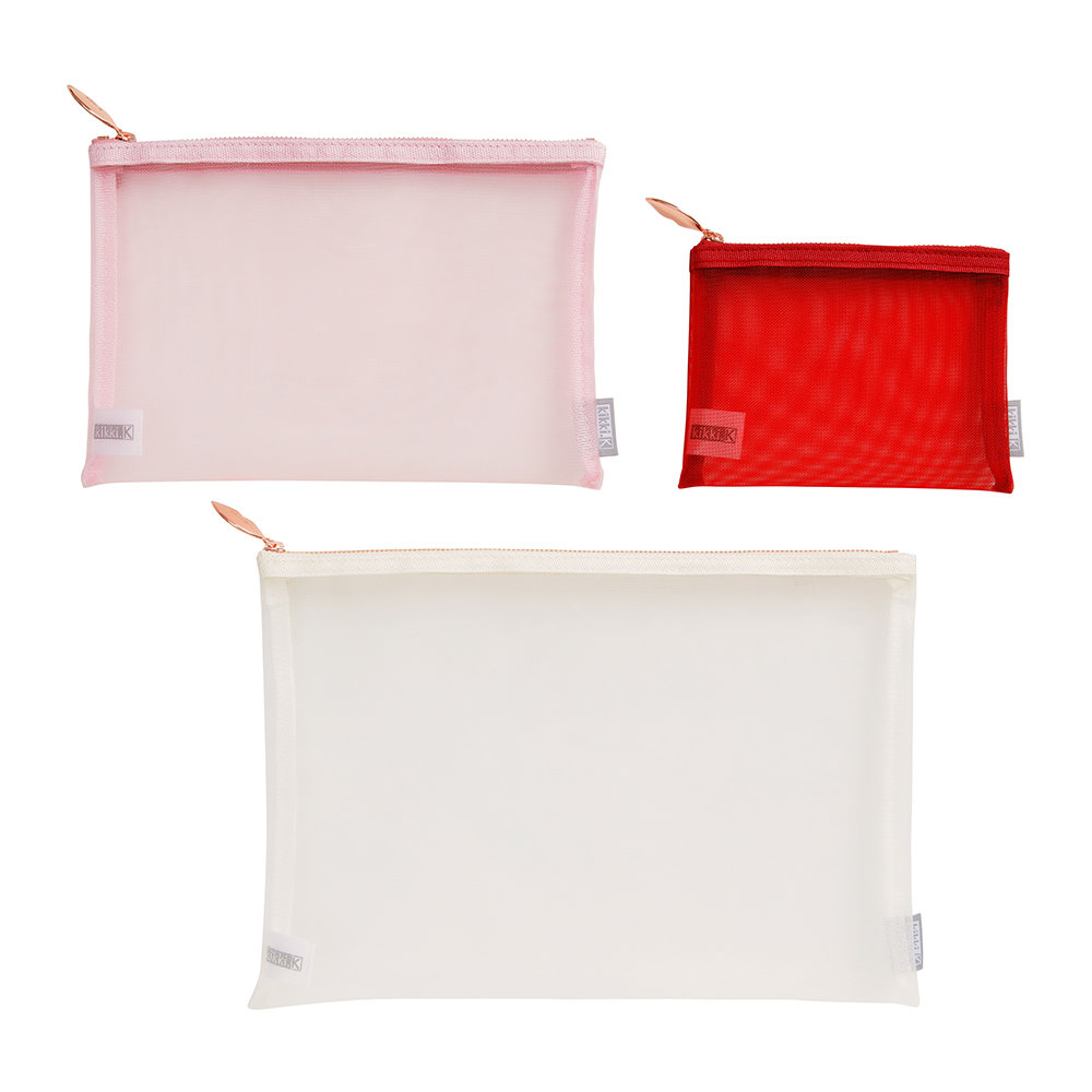 Kikki.K - There She Is Mesh Pouch - Set of 3