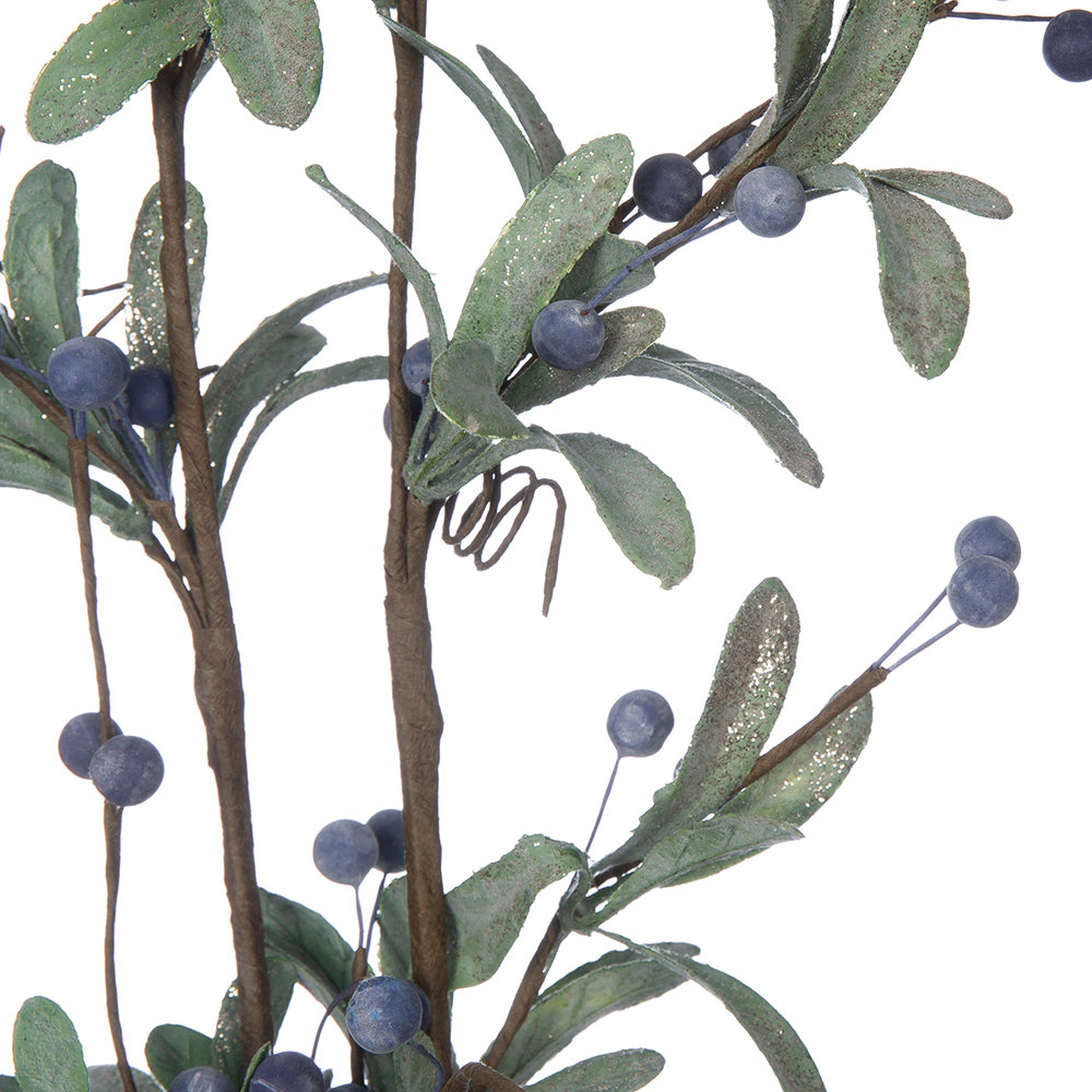 Gisela Graham - Mini Leaf and Blueberry Artificial Stem