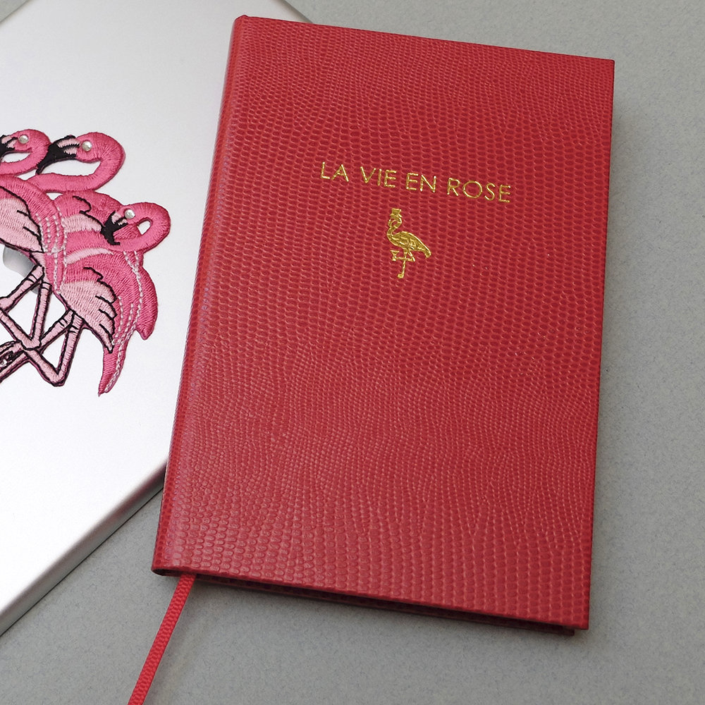 Sloane Stationery - A6 Notebook - 'La Vie En Rose'