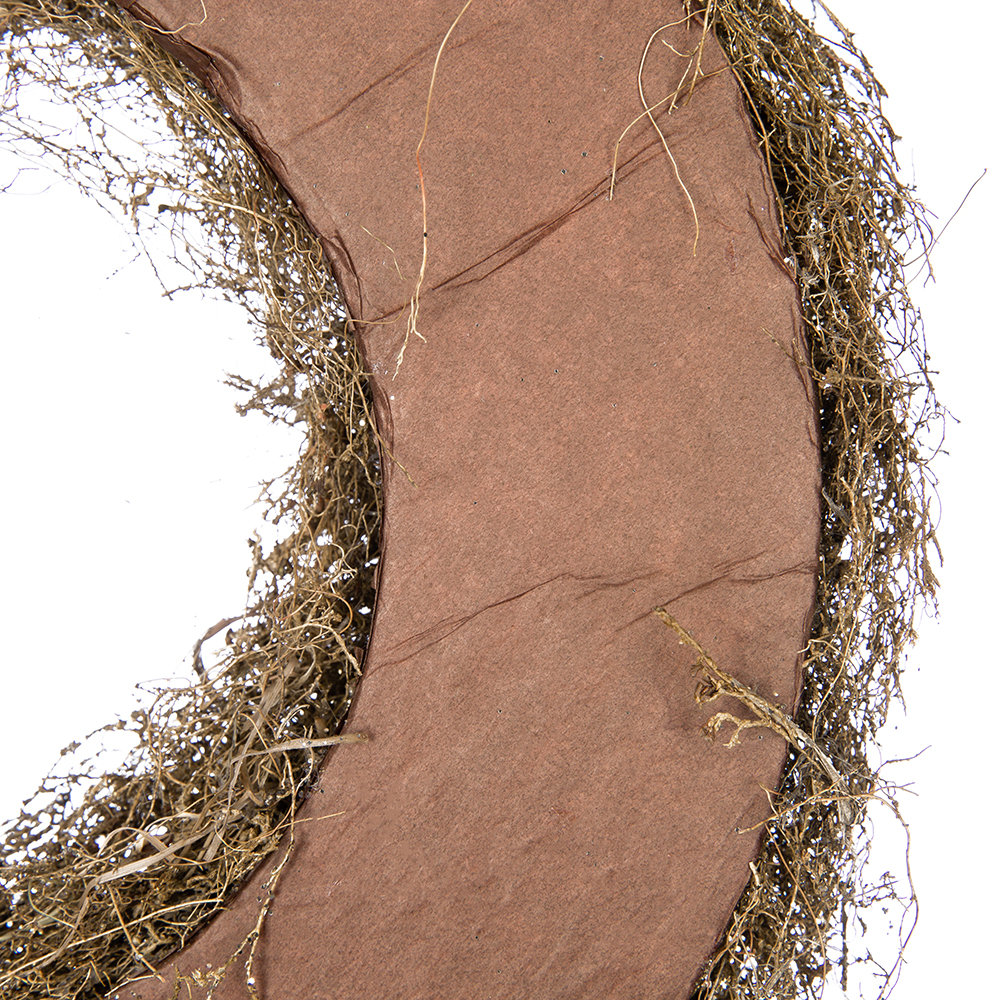A by AMARA Christmas - Glitter Grass Wreath - Cashmere Brown