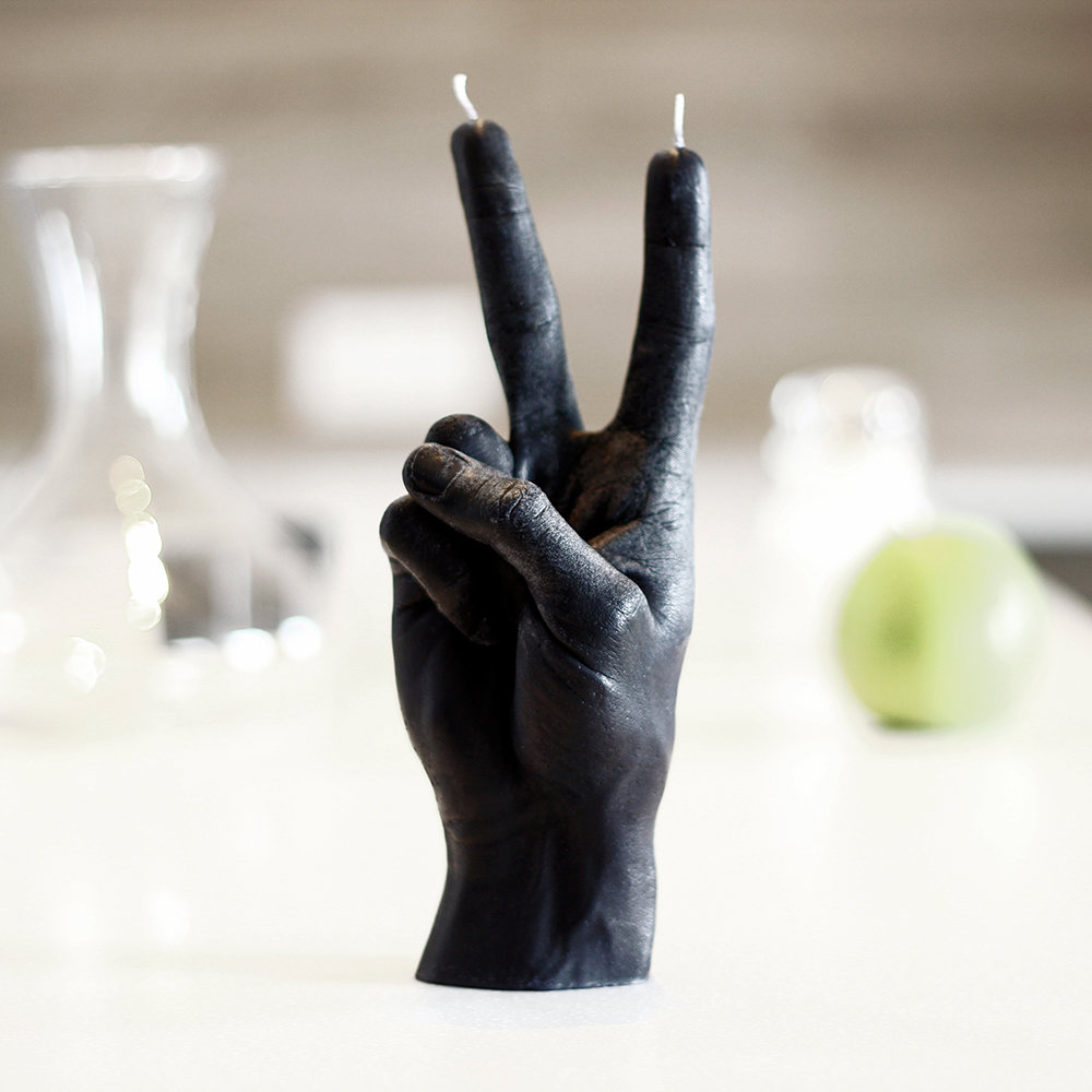 Candle Hands - 'Victory' Candle - Black