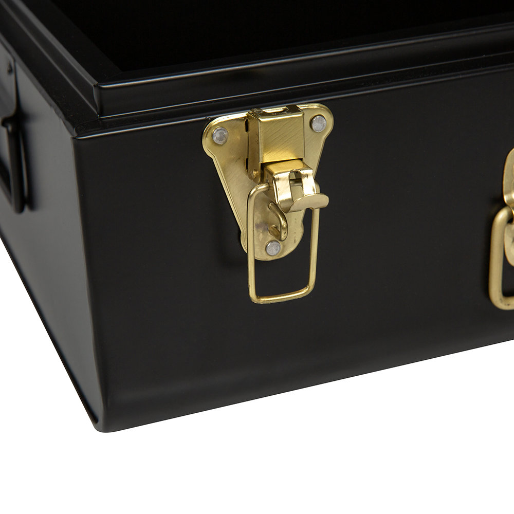 A by AMARA - Metal Trunks - Set of 2 - Black