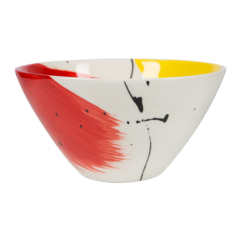 Bliss Home - Fabbro Swish Cereal Bowl - Red and Yellow