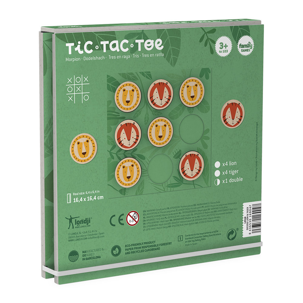 Londji - Lion & Tiger Tic Tac Toe