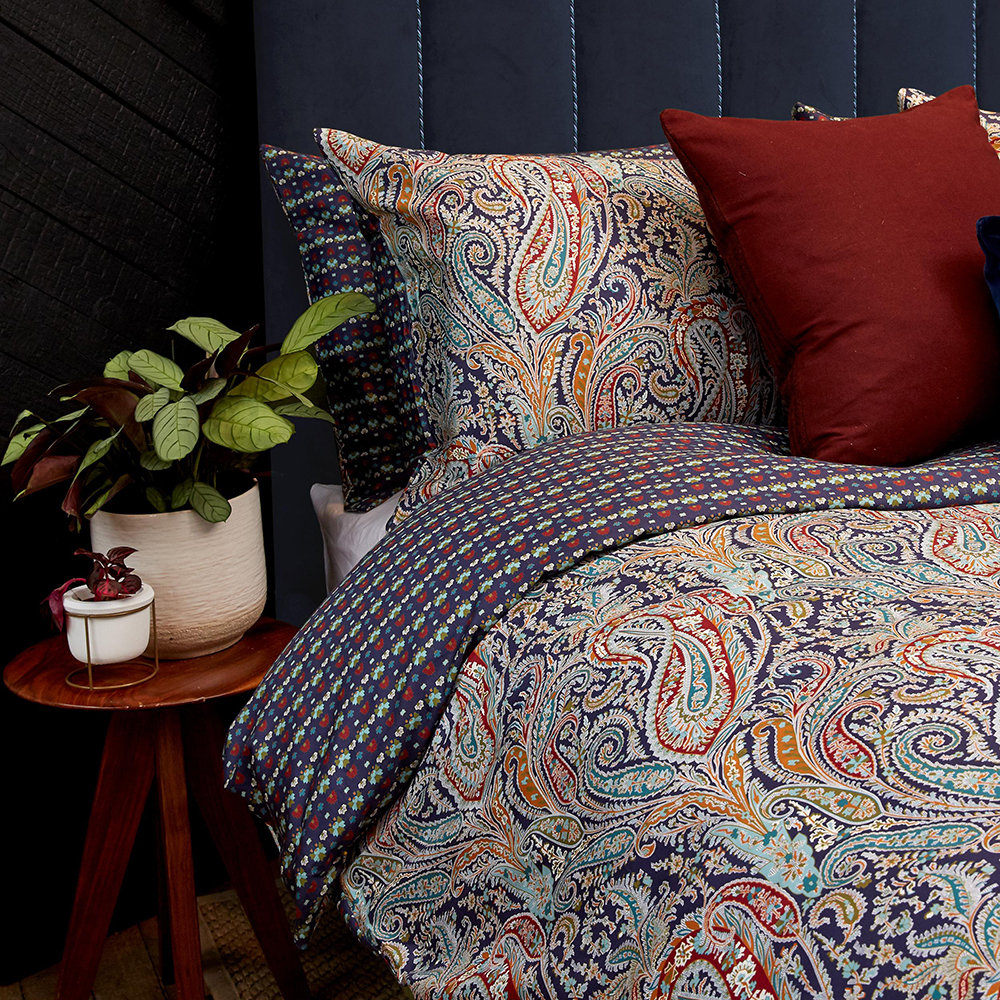 Liberty London - Felix  Isabella Quilt Set - Navy - Super King