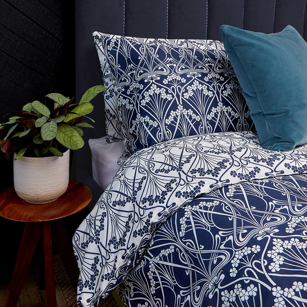 Liberty London - Ianthe Quilt Set - Navy - Super King