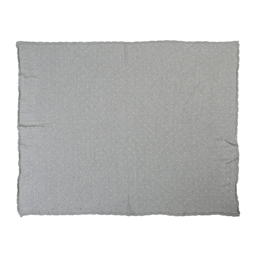 Lorena Canals - Biscuit Knitted Baby Blanket - 90x120cm - Light Gray