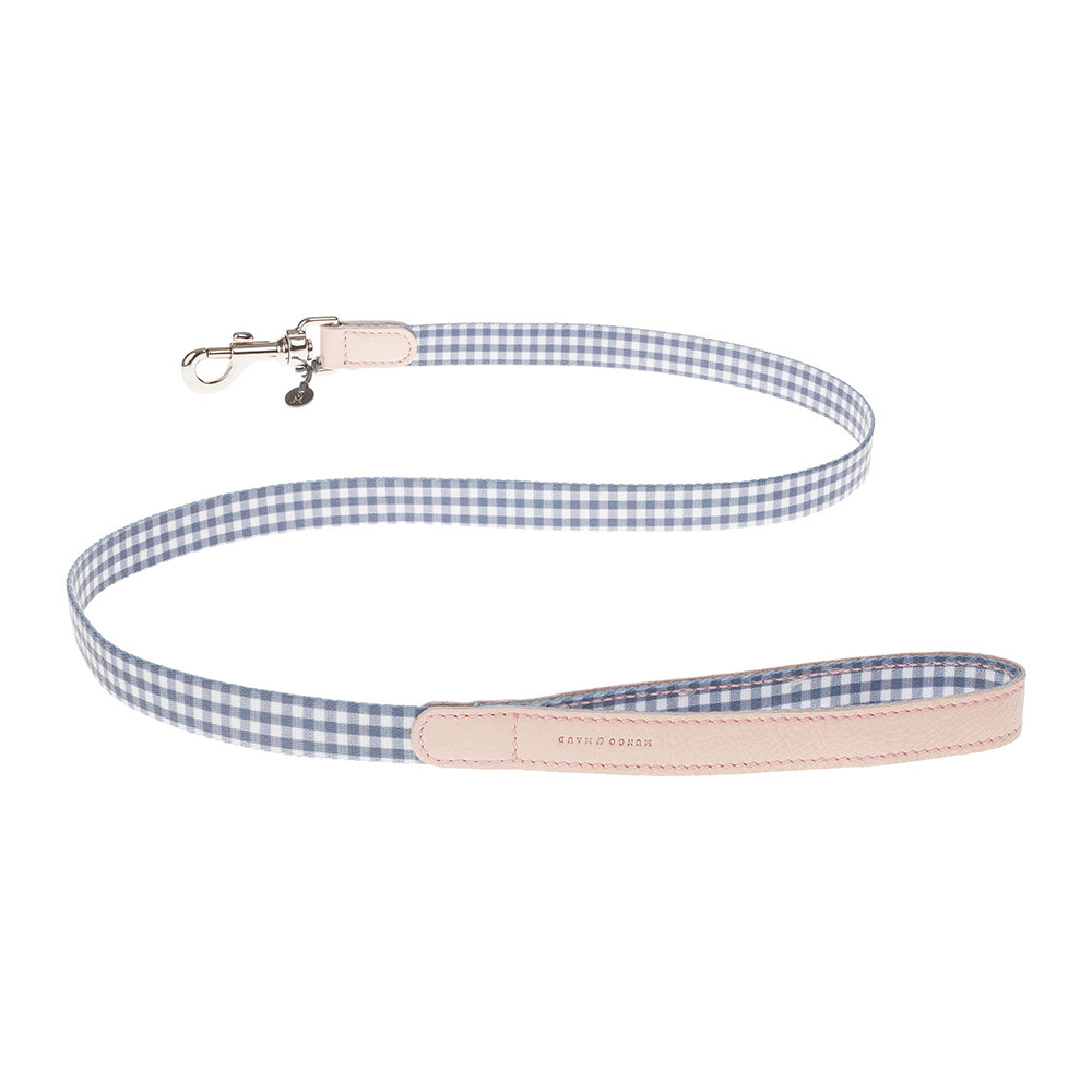Mungo  Maud - Clara Check Lead - Grey/Bonbon - Wide