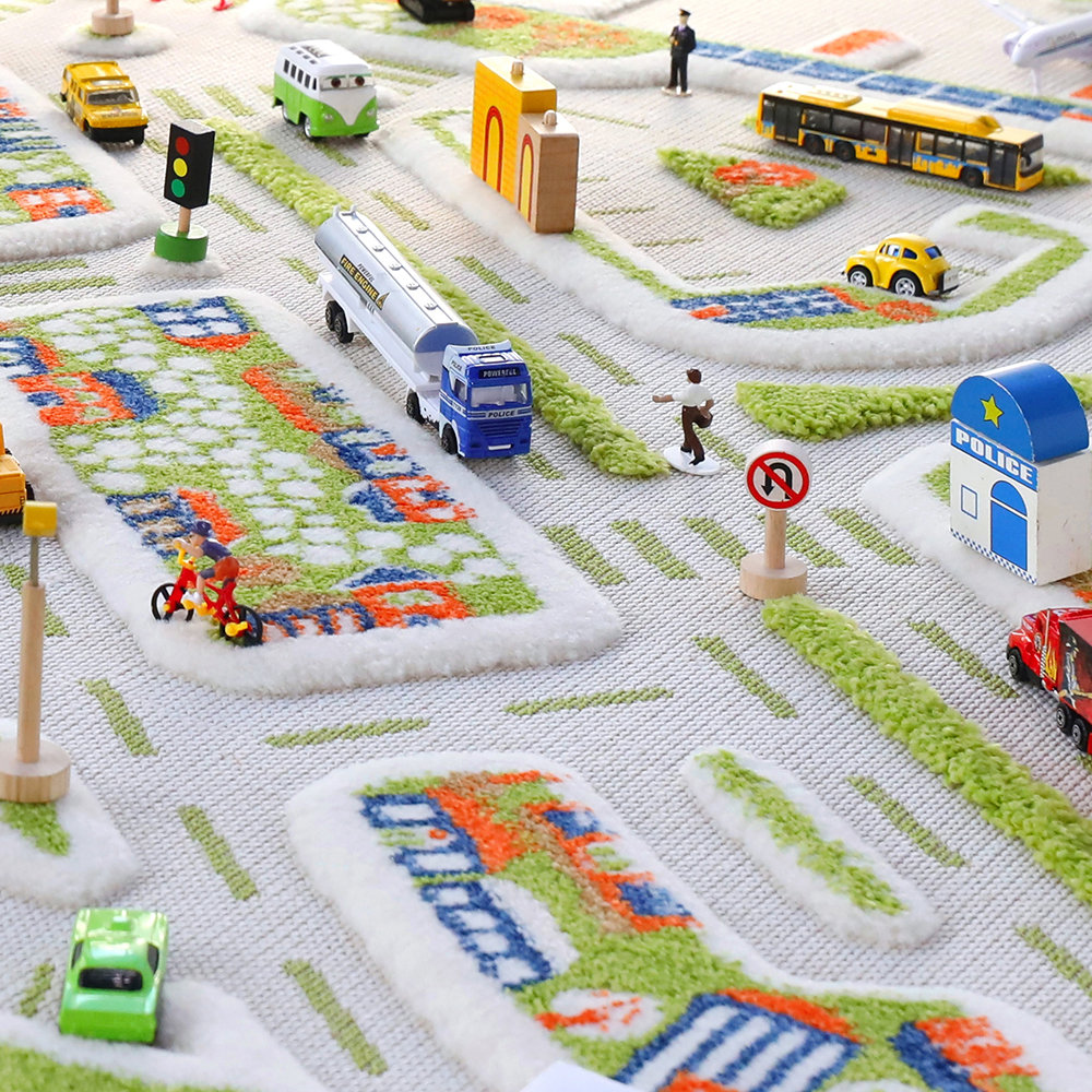 IVI World - Children's 3D Play Rug - Mini City - 134x180cm