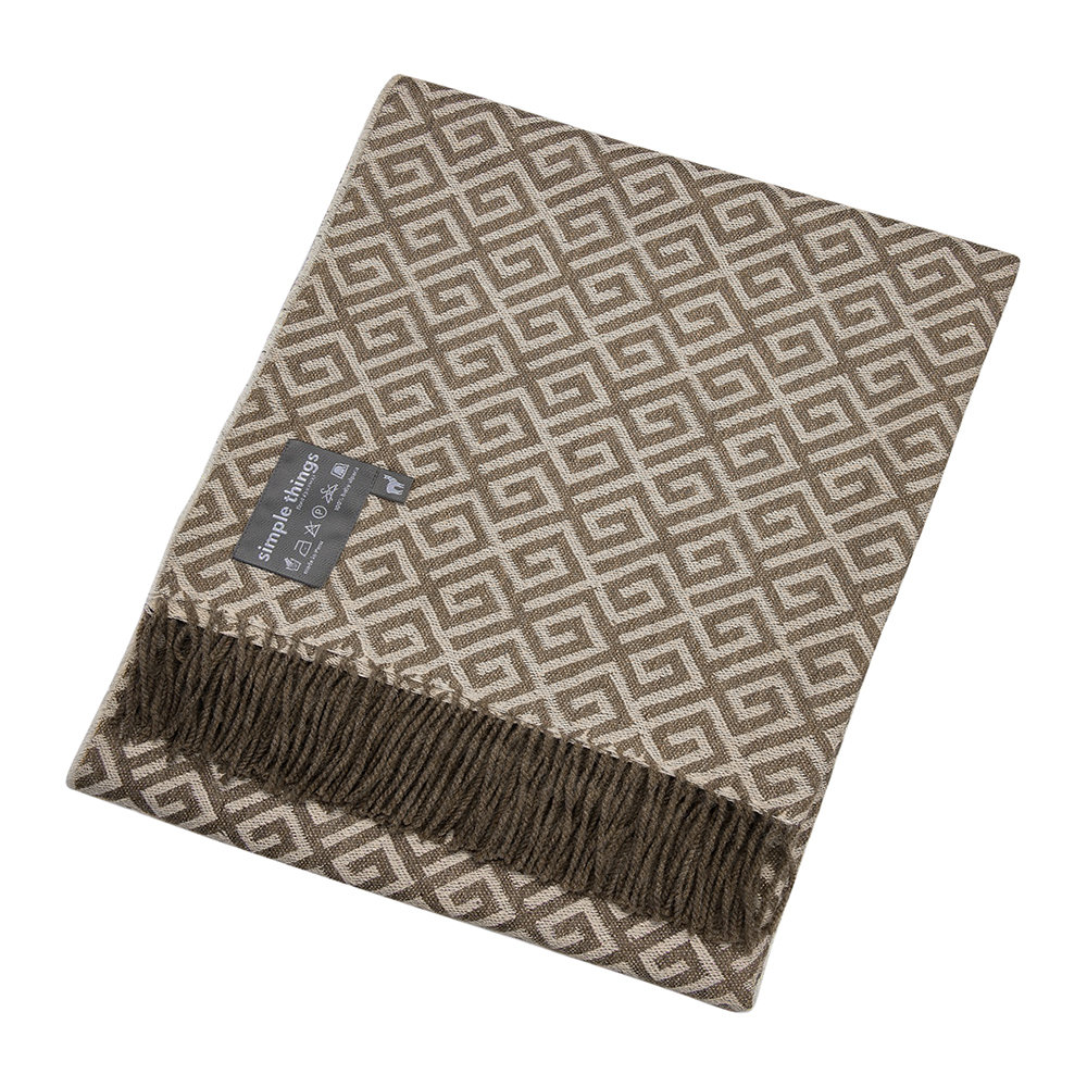 Simple Things - Alpaca Throw Geometric - Tan