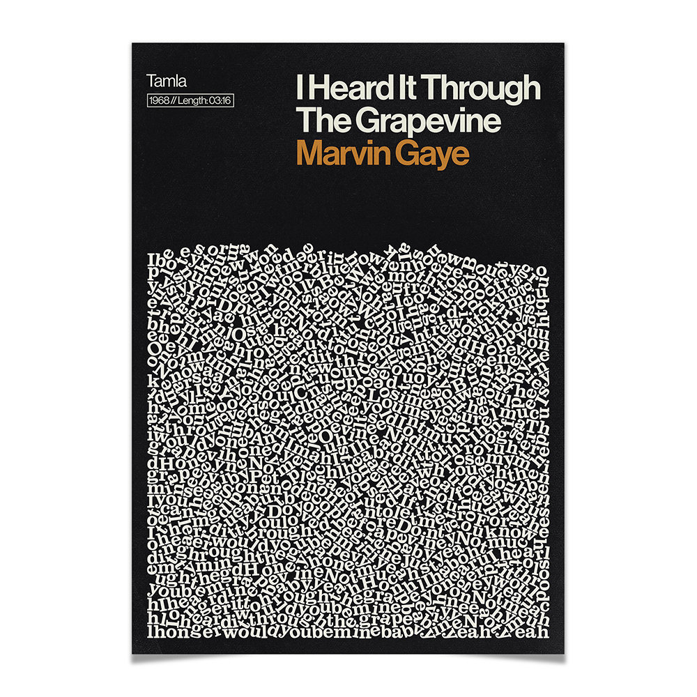 Reign  Hail - I Heard It Through The Grapevine Print - A2