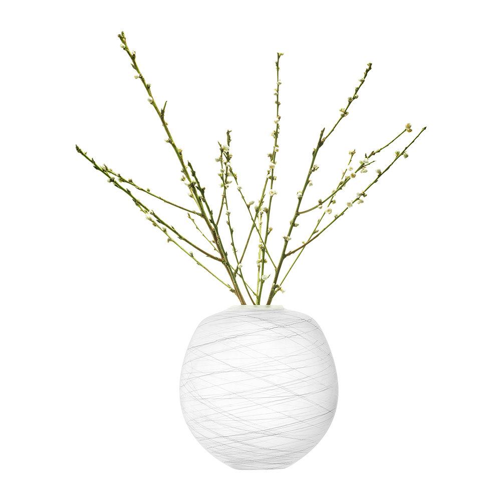 LSA International - Boulder Vase - Chalk Thread - 31cm