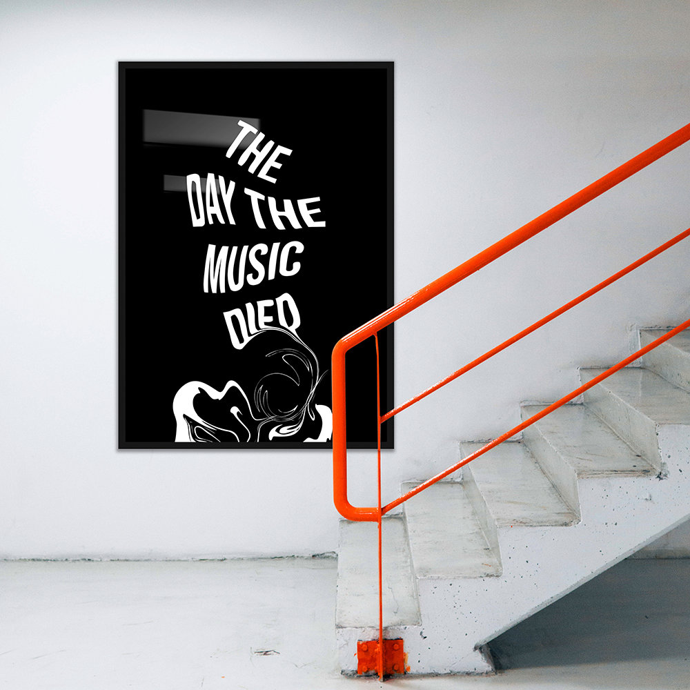 Mood - Day The Music Died Print - A3
