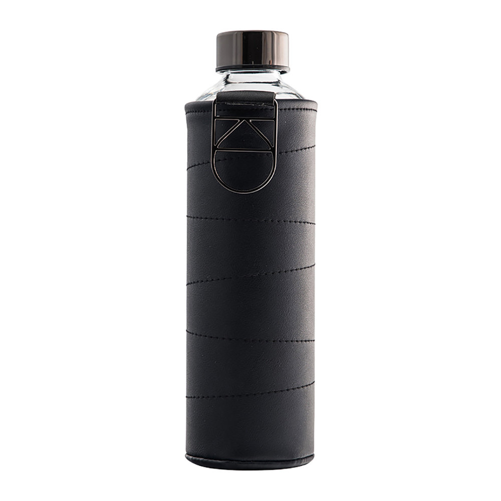Equa - Mismatch Water Bottle with Faux Leather Cover - Graphite