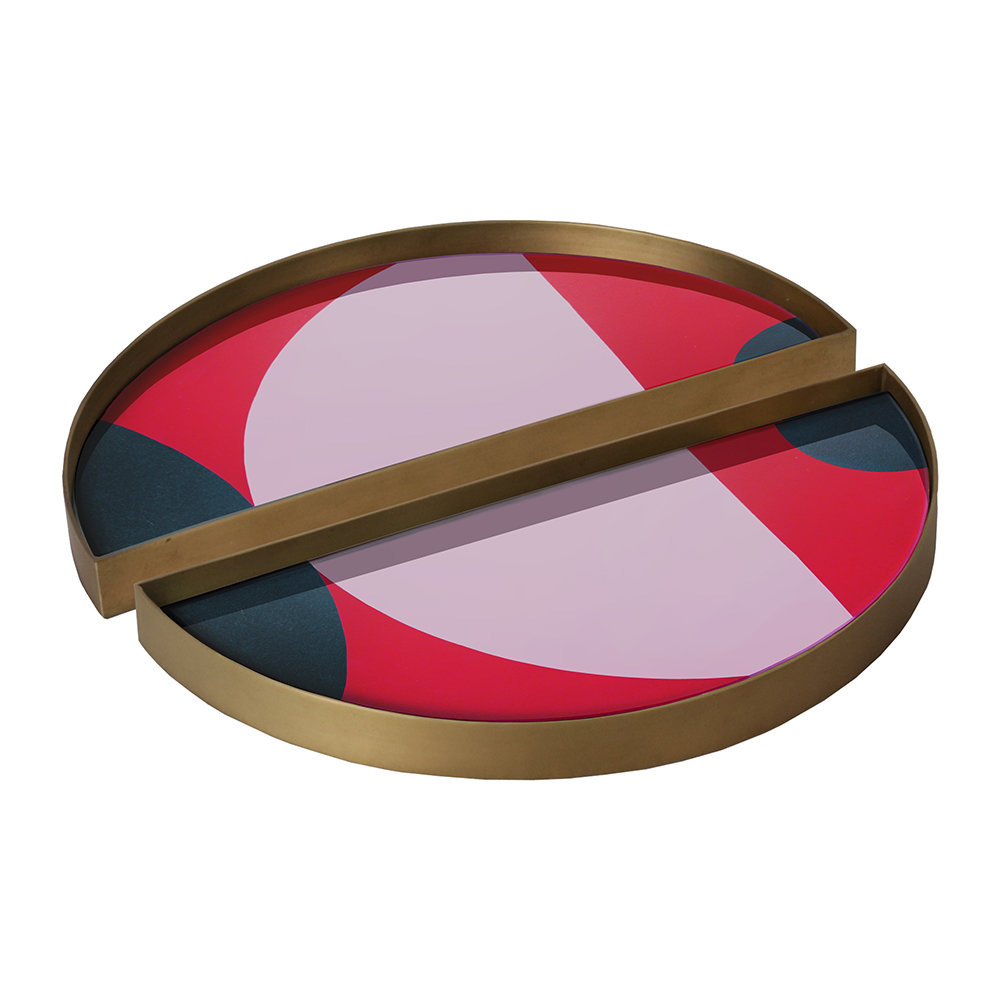 Notre Monde - Blush Curve Mini Tray - Half Moon - Set of 2
