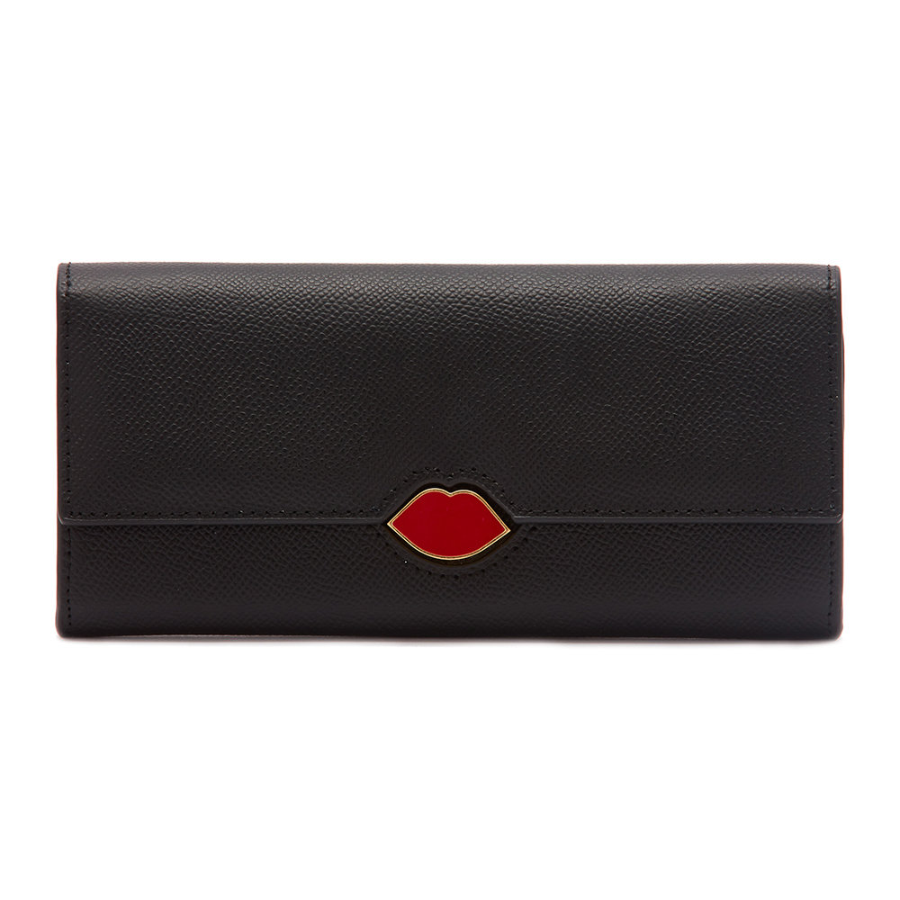 Lulu Guinness - Lip Cut Out Cora Wallet - Black