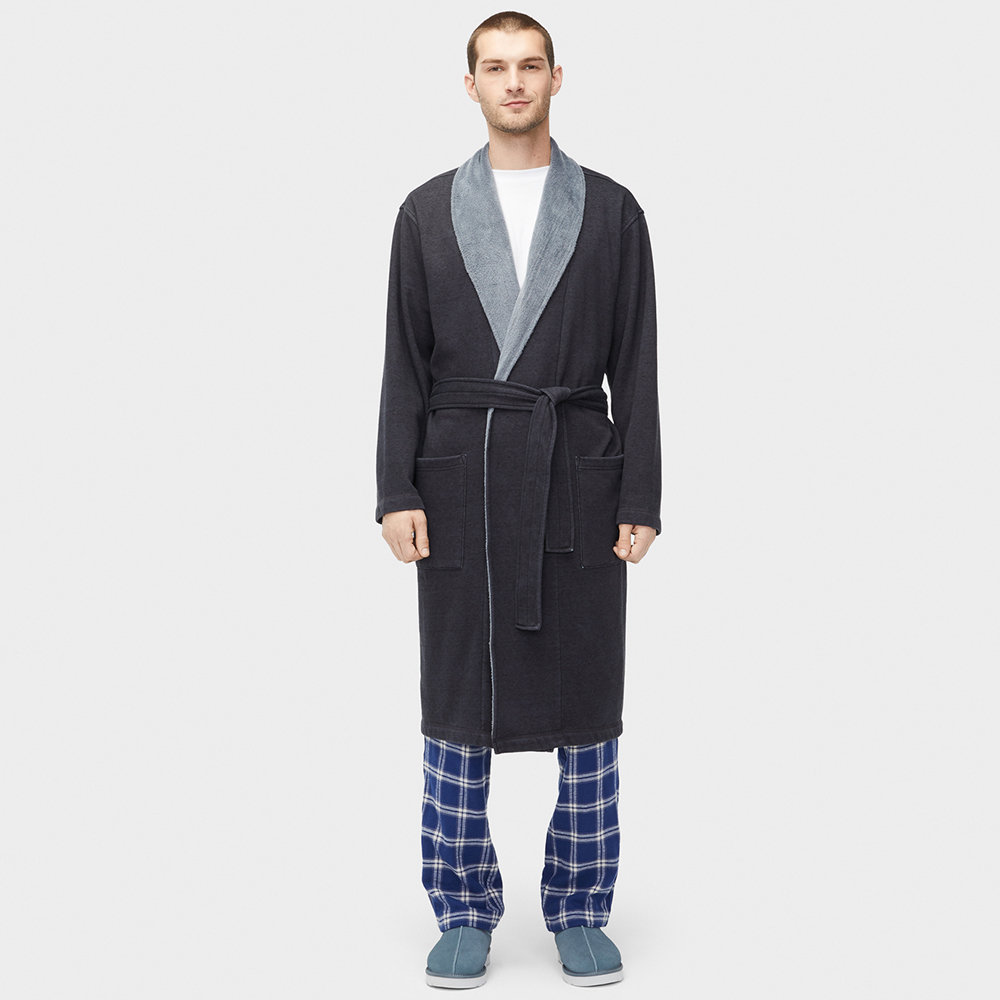 UGG® - Men's Robinson Dressing Gown - Black Heather