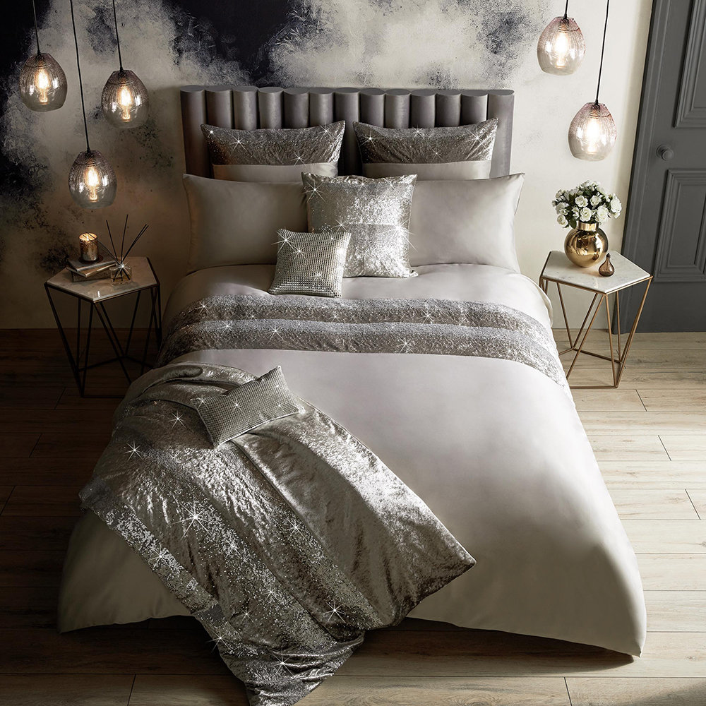 Buy Kylie Minogue At Home Skyla Duvet Cover Silver