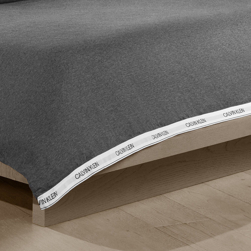 Calvin Klein - Classic Logo Duvet Cover - Heathered Charcoal - King