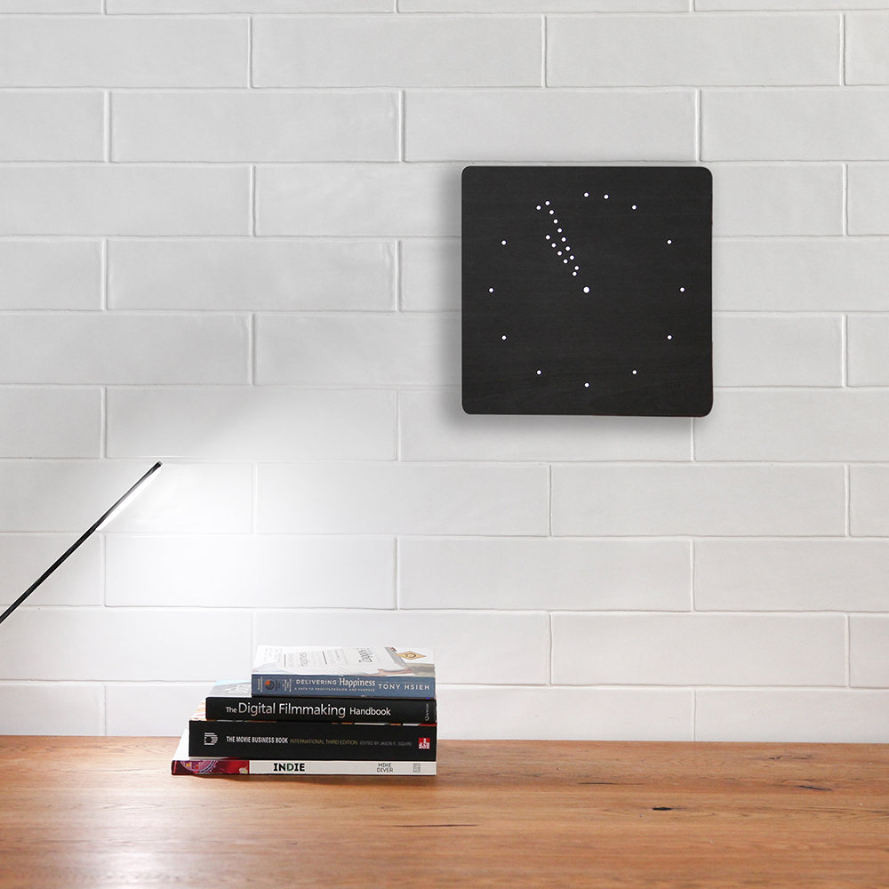 Gingko - Analogue Click Clock - Black