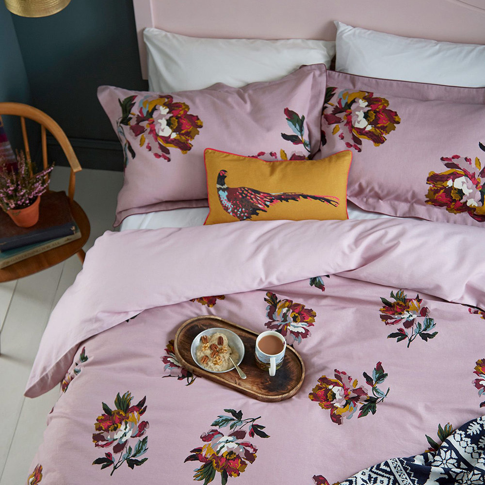 Joules - Heritage Peony Duvet Cover - Lilac - King