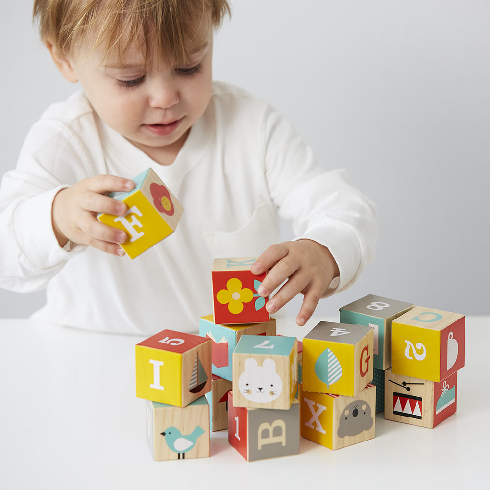 Petit Collage - ABC Wooden Playing Blocks