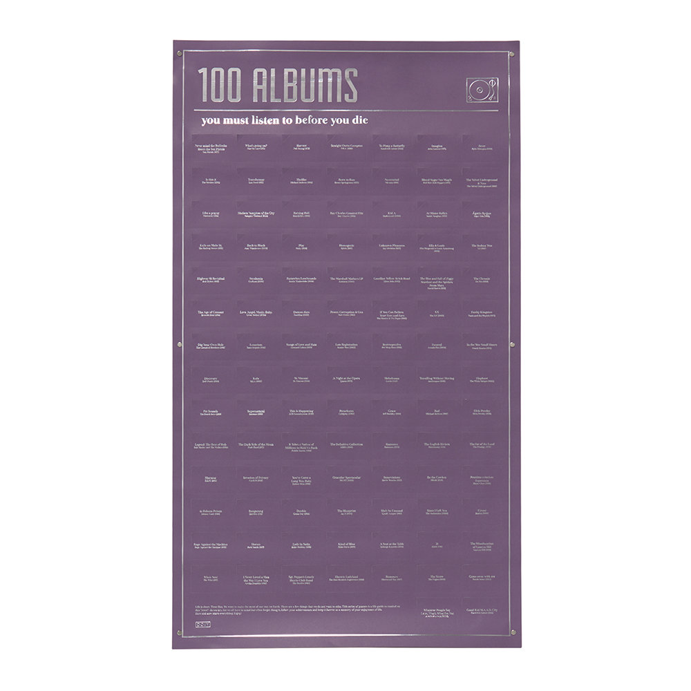 DOIY - 100 Must-Do Poster - 100 Albums