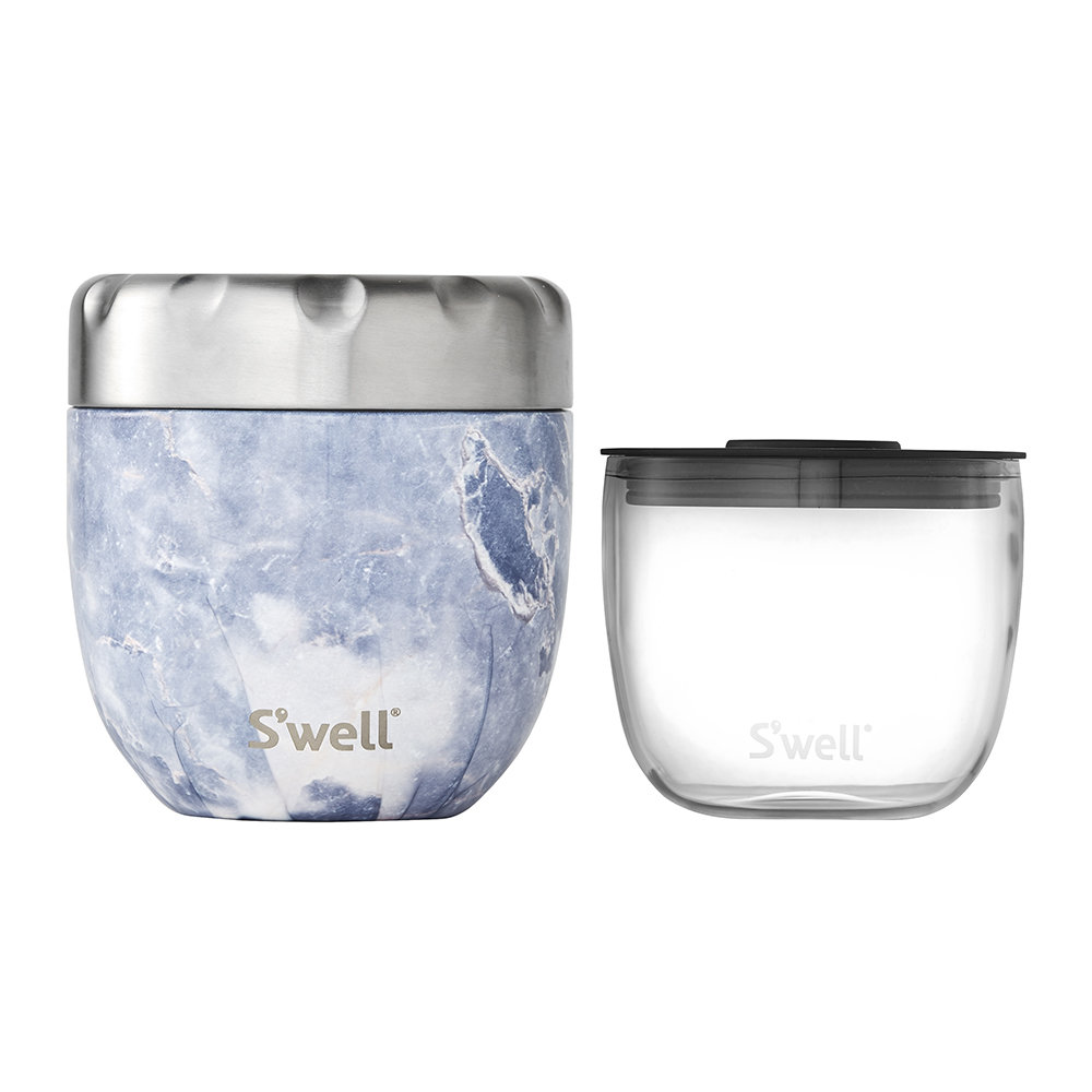S'well - 2-in-1 Nesting Food Bowl - Blue Granite - Medium