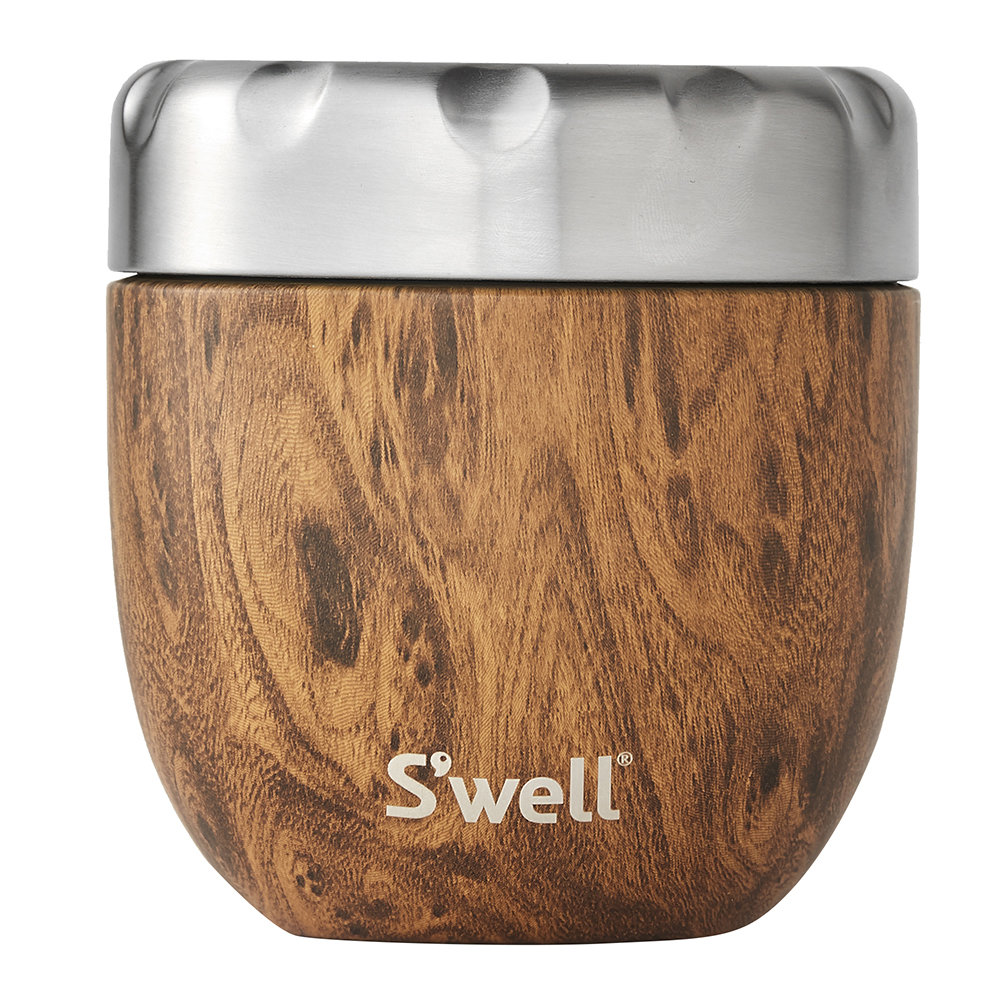 S'well - 2-in-1 Nesting Food Bowl - Teakwood - Small