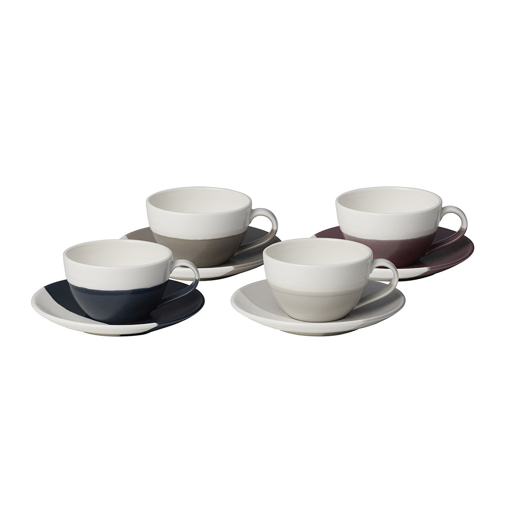 Royal Doulton - Coffee Studio Flat White Cup and Saucer - Set of 4