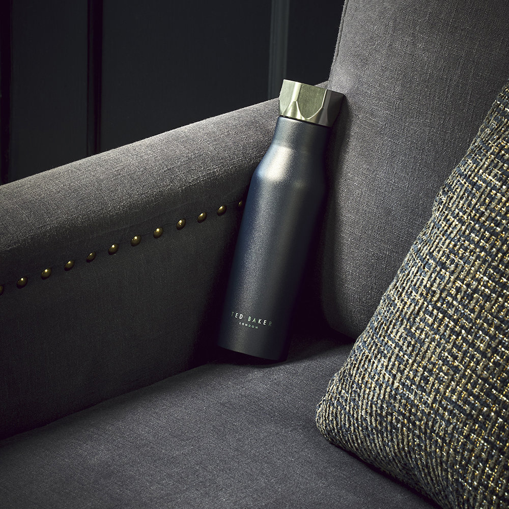 Ted Baker - Insulated Water Bottle - 425ml - Navy