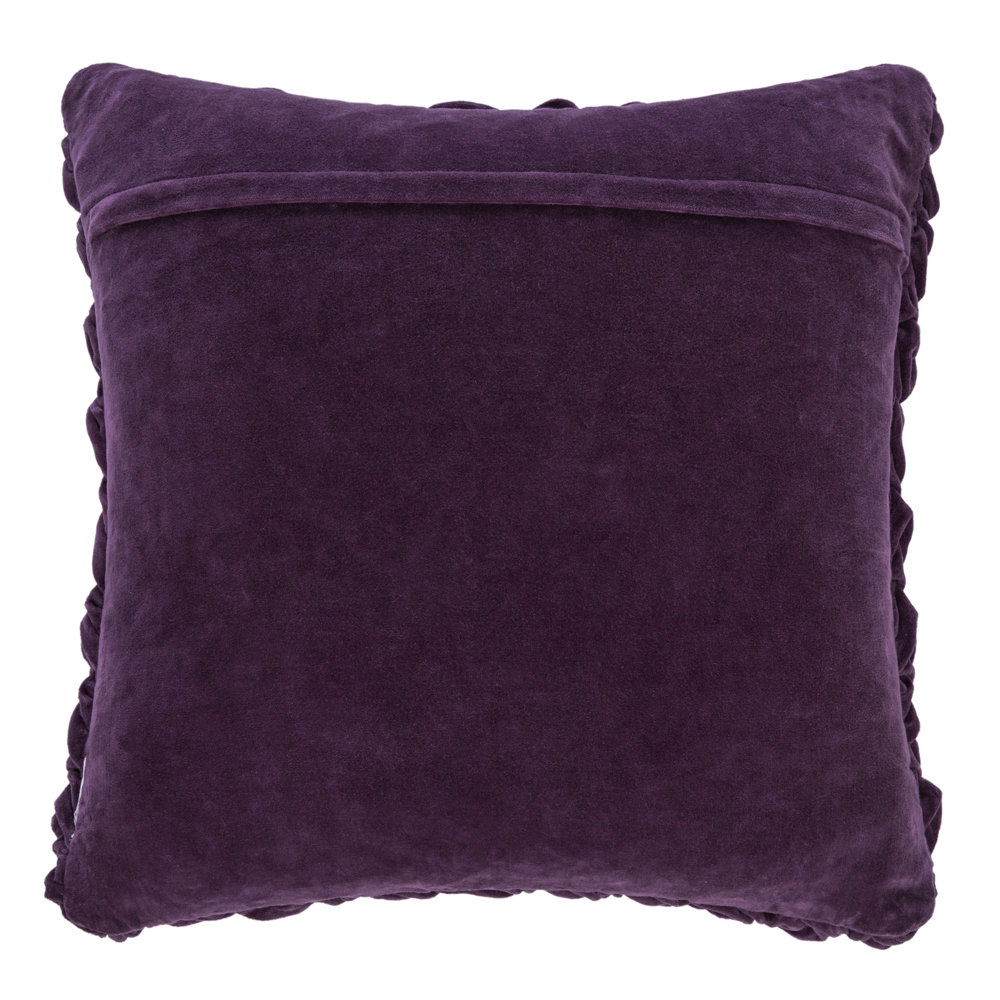 A by AMARA - Abstract Textured Pillow - 50x50cm - Purple