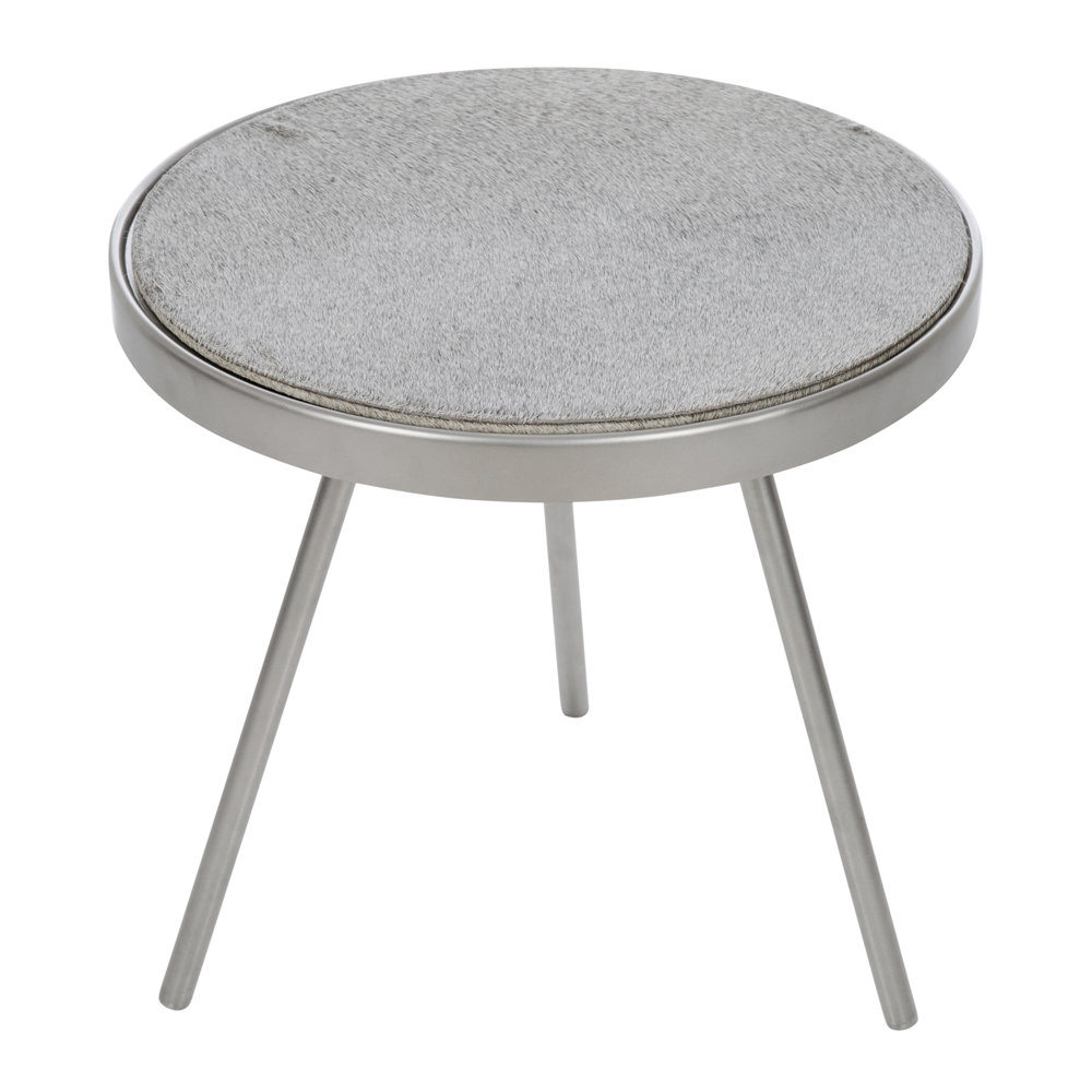 A by AMARA - Cowhide Side Table - Gray