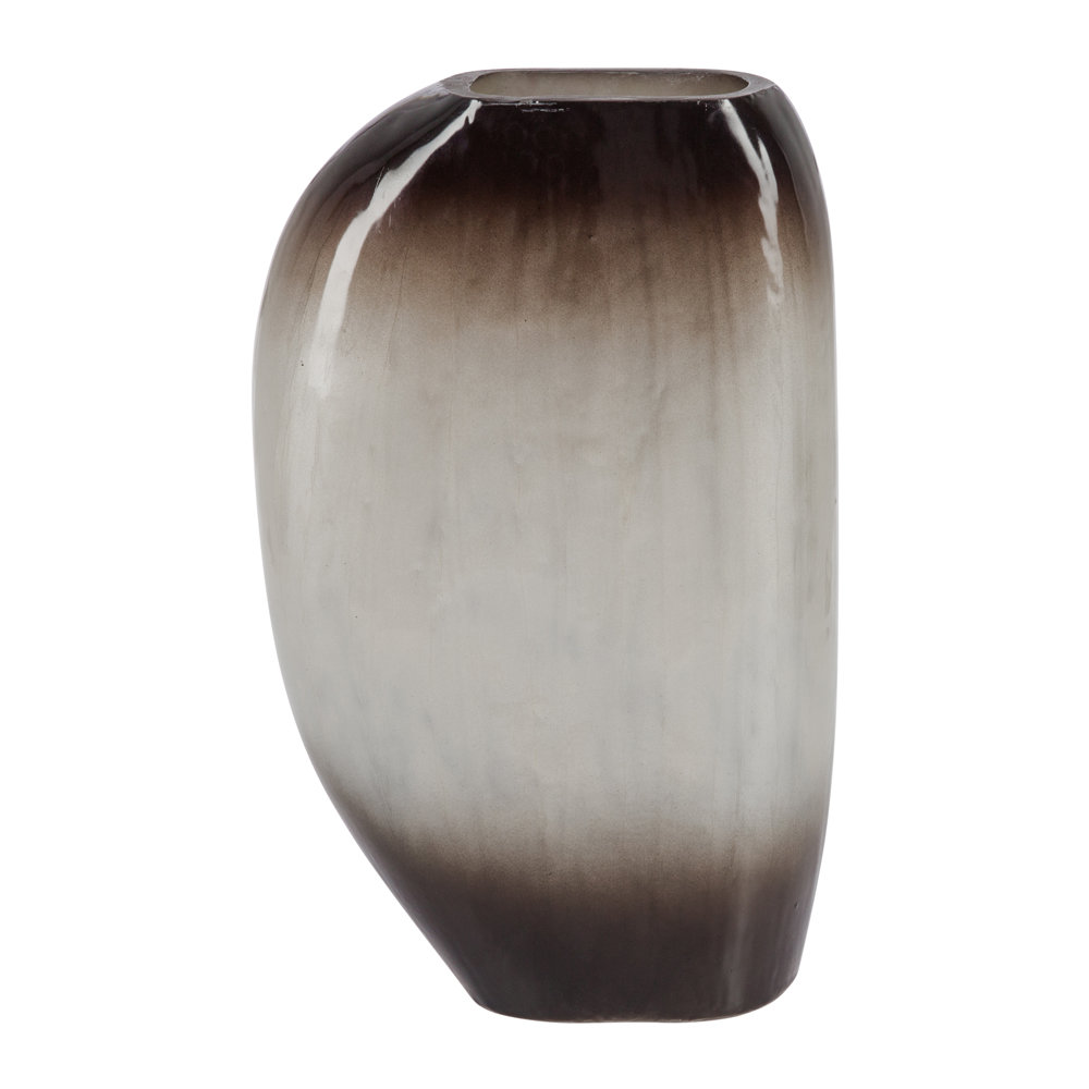 Luxe - Vase Ovale Ombre Argent - Grand