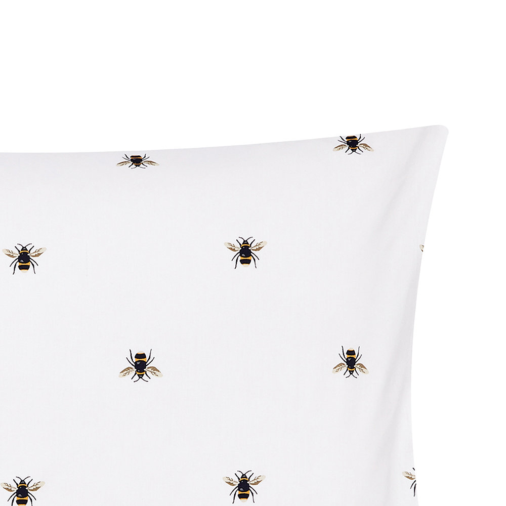 Joules - Botanical Bee Standard Pillowcase - Blue