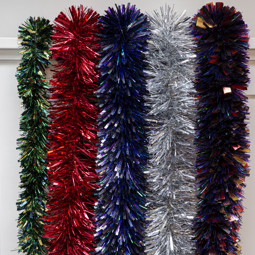 A by AMARA Christmas - Cosmic Flame Embossed Tinsel