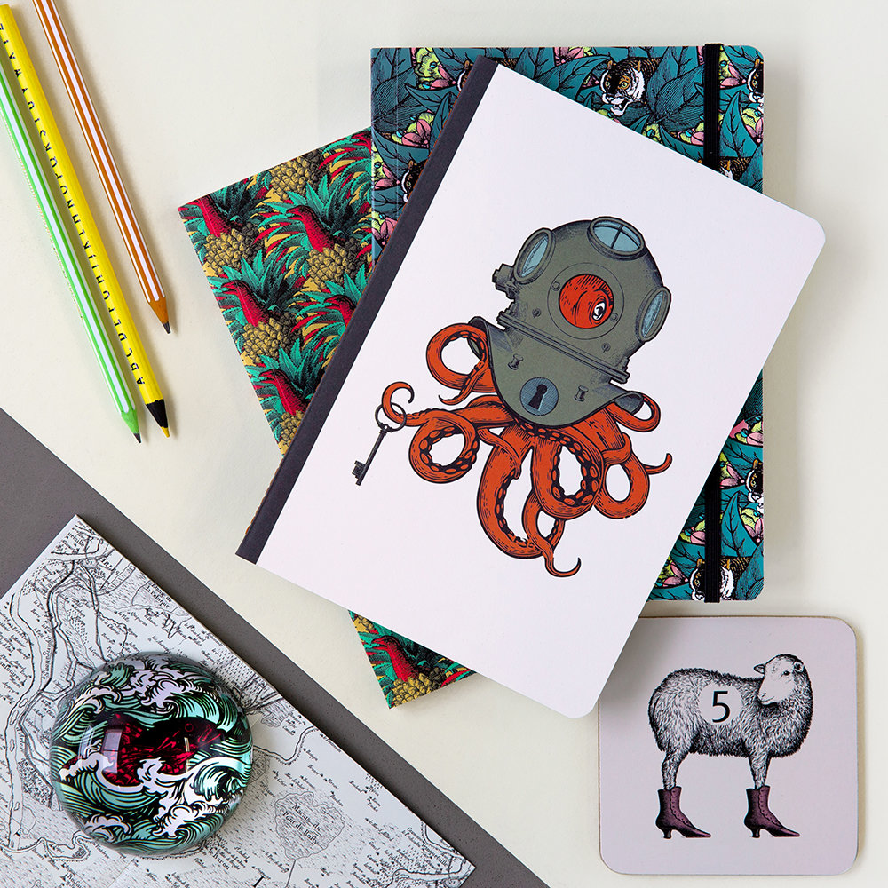 Gangzai - Arti Coasters - Set of 4 - Scaphopoulp/Elephant'R