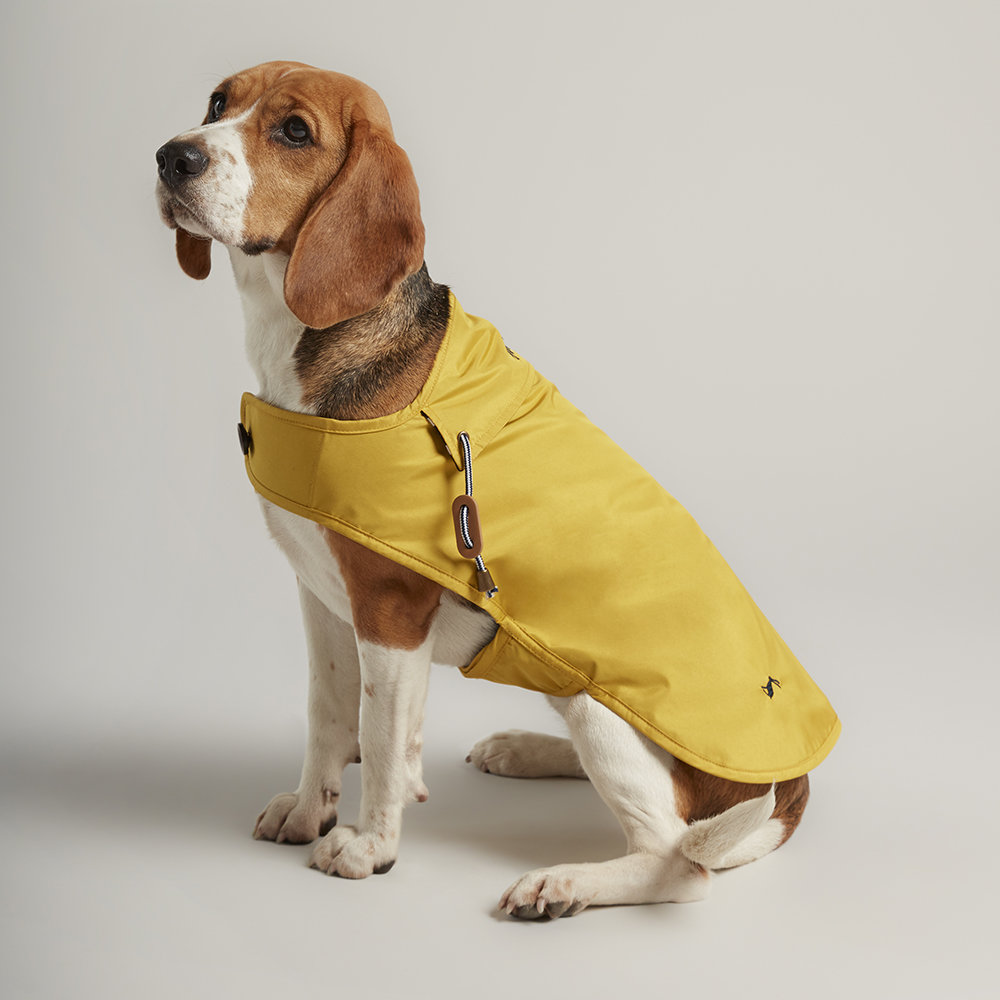 Joules - Water Resistant Dog Coat - Mustard - Large