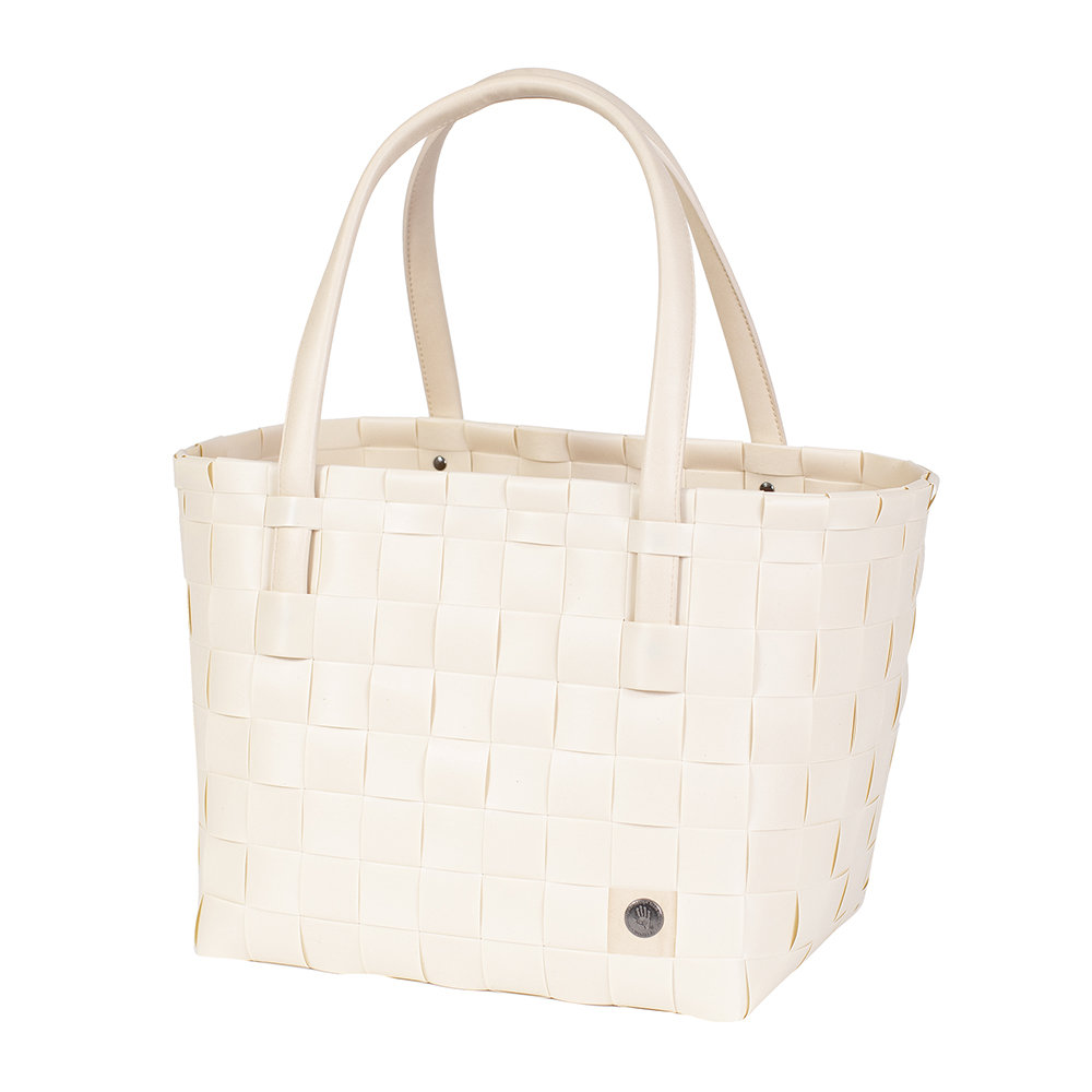 Handed By - Color Match Shopper Bag - Ecru White