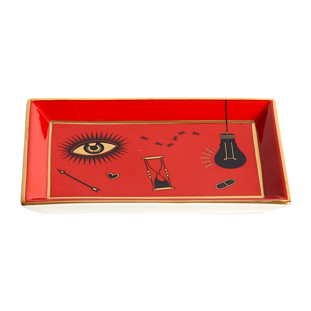 Jonathan Adler - Bijoux Rectangle Tray - Red