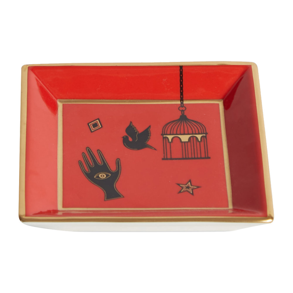 Jonathan Adler - Bijoux Square Tray - Red