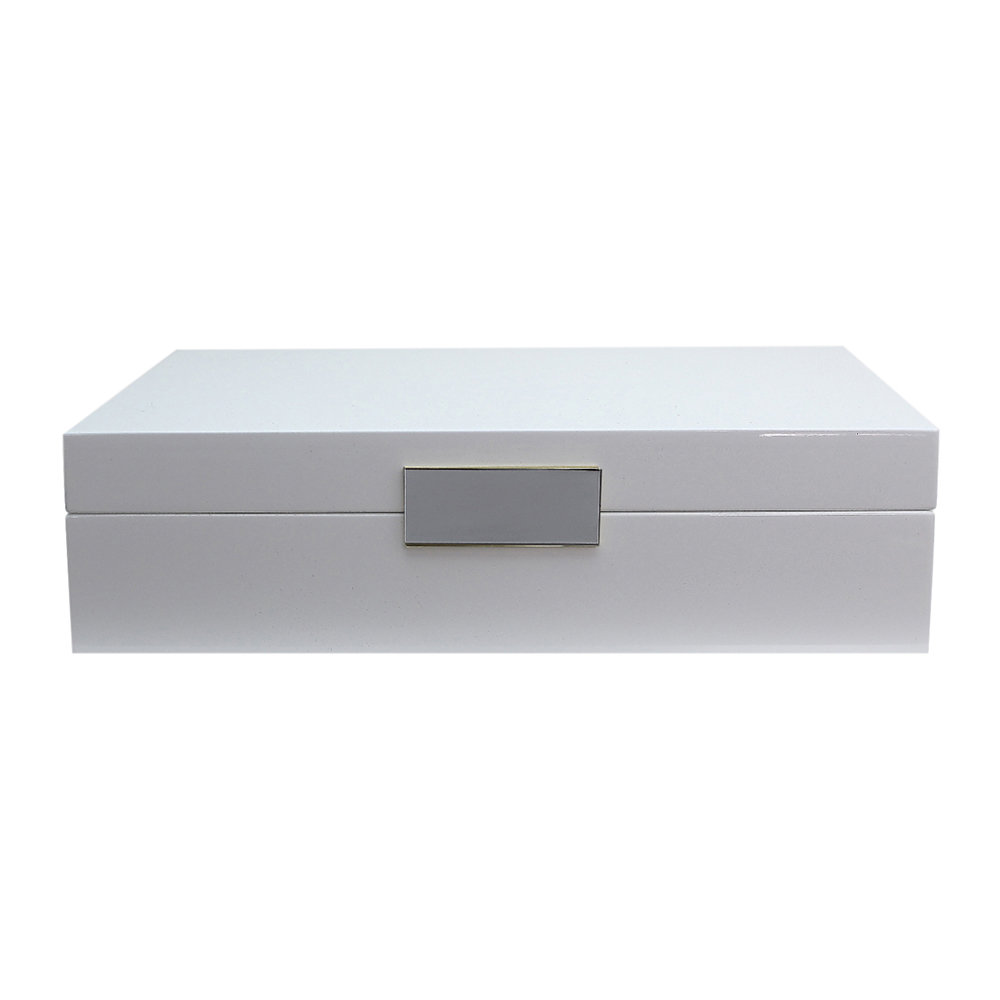Addison Ross - Lacquer Box with Metal Clasp - 20x28cm - White