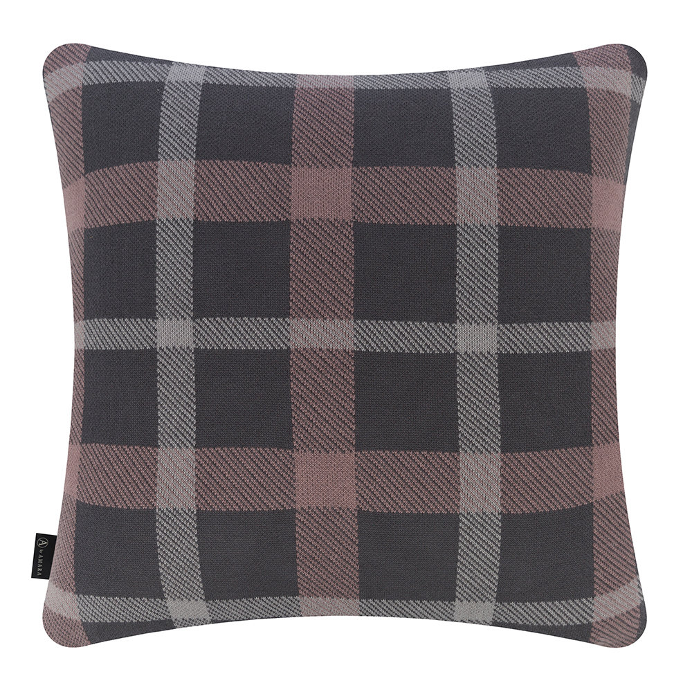 A by AMARA - Check Pillow - 50x50cm - Gray & Pewter
