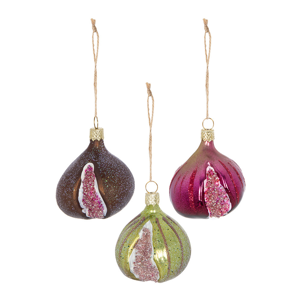 Cody Foster & Co - Fig Tree Decoration - Set of 3