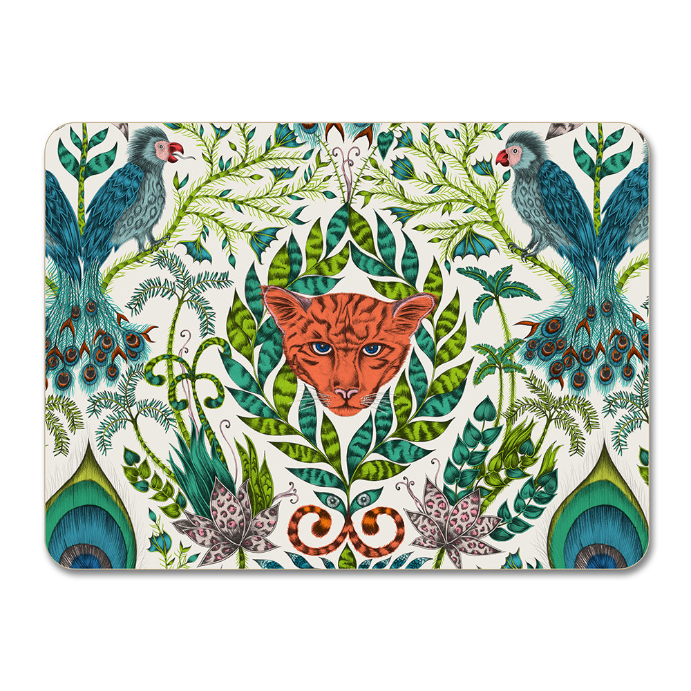 Emma J Shipley - Amazon Placemat  - Green