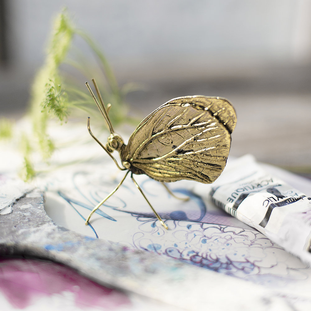 A Simple Mess - Lunel Butterfly Ornament - Gold